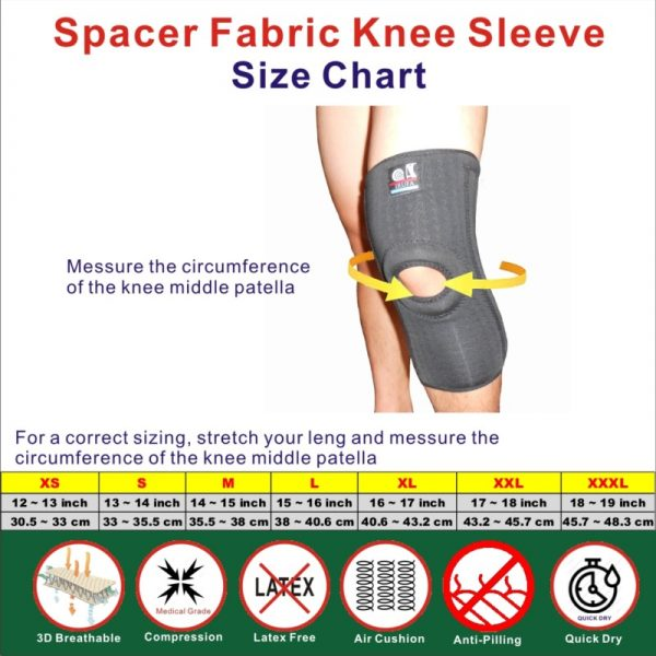 spacer fabric Knee Brace