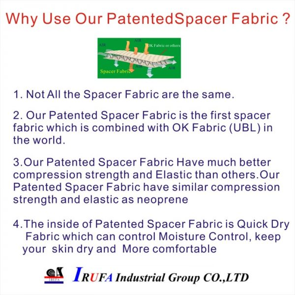 Why our Patented Spacer fabric ?