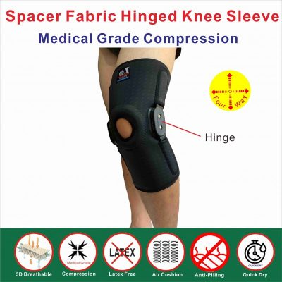 Spacer Fabric hinged knee sleeve