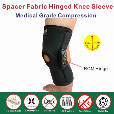 Spacer Fabric ROM Hinged knee sleeve