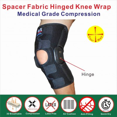 Hinged knee wrap