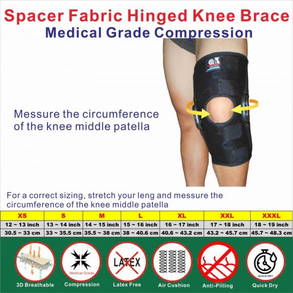 Hinged knee Stabilizer Size