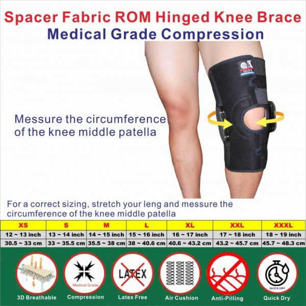 ROM Hinged knee Stabilizer