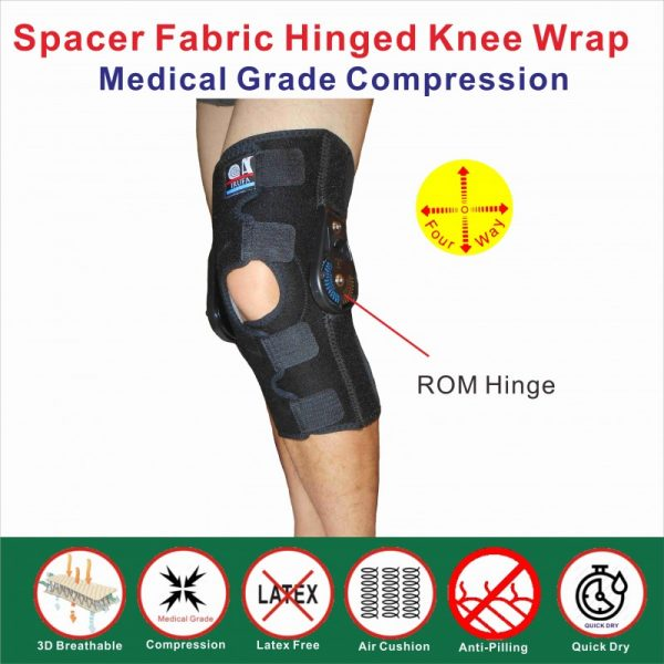 Breathable ROM hinged knee support