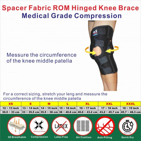 Breathable ROM Hinged knee Stabilizer