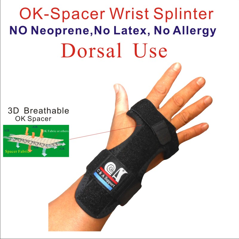 3D breathable spacer fabric night wrist brace,splint,wrap,support