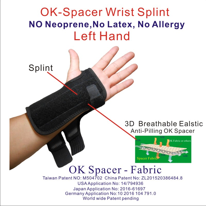 Spacer fabric Wrist Splint