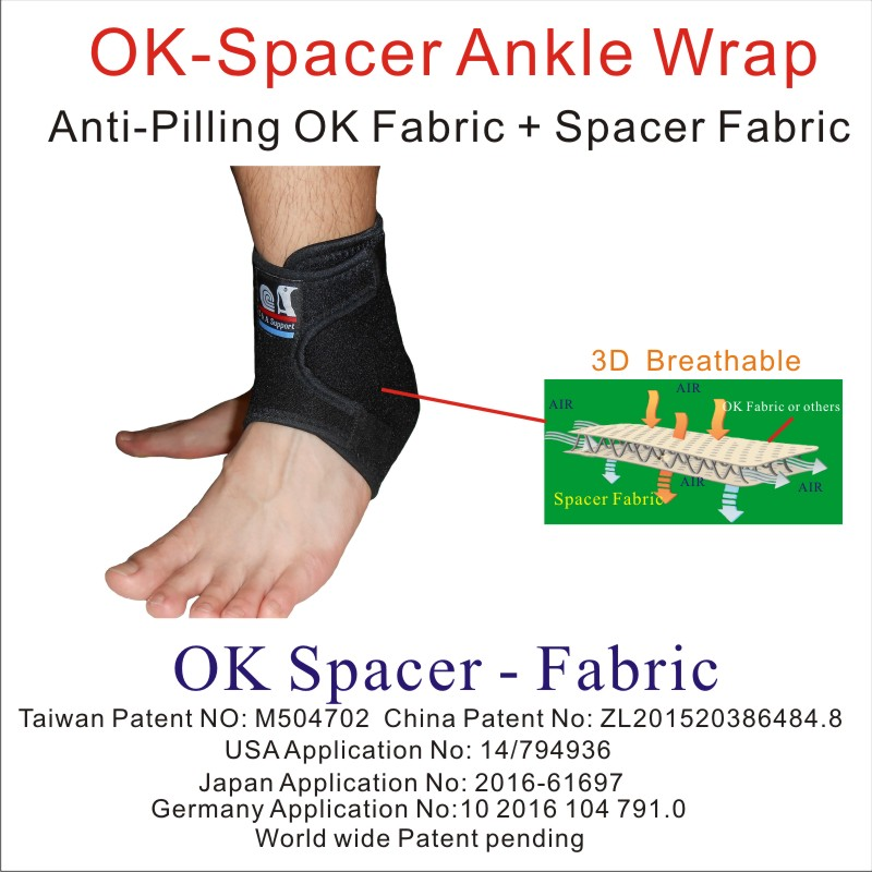 3D breathable ankle support