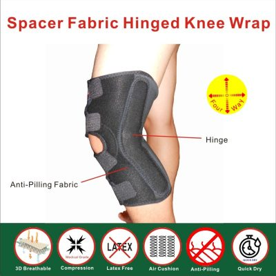 Spacer Fabric Hinged Knee Stabilizer