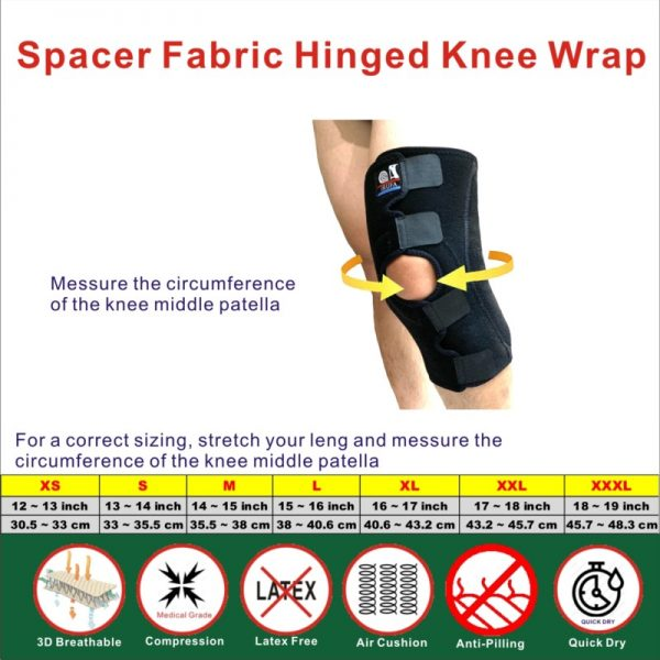 Spacer Fabric Hinged Knee Wrap