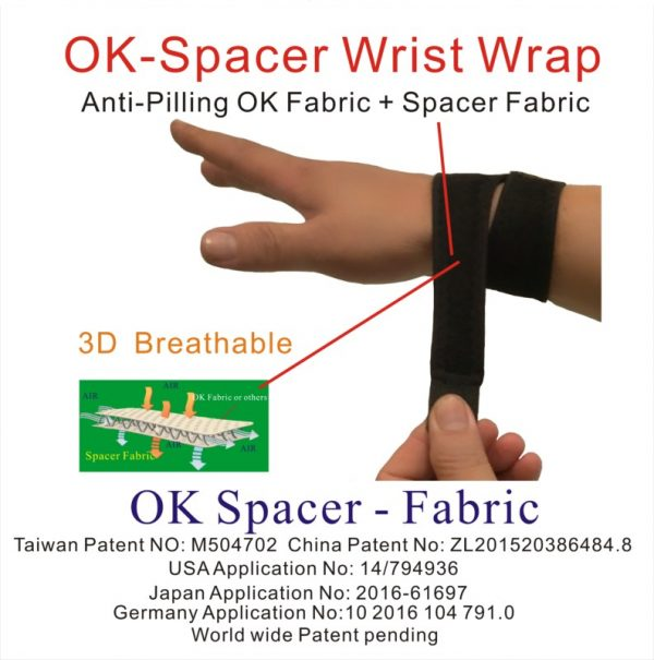 Spacer Fabric wrist wrap