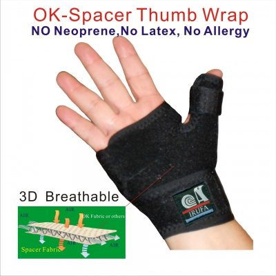 Spacer Fabric thumb wrist splint