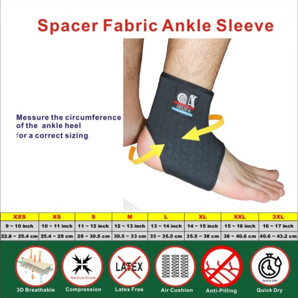 Spacer Fabric Ankle Support