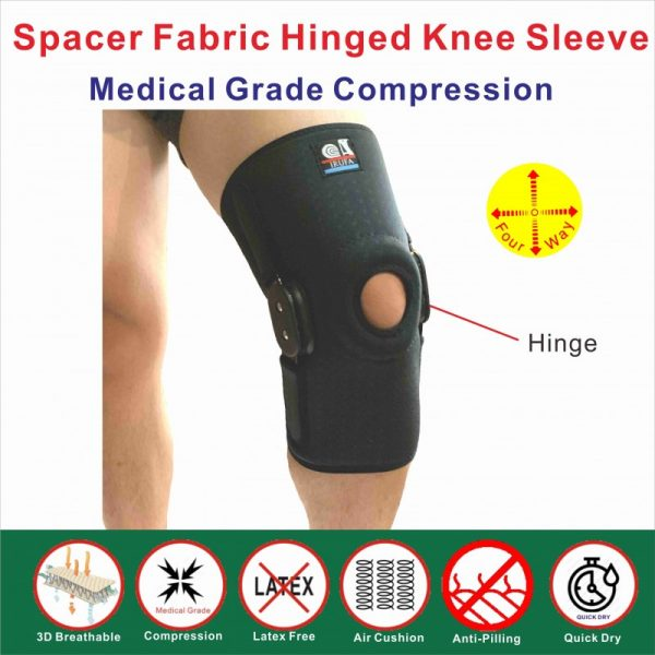 New Technology Spacer Fabric hinged knee sleeve