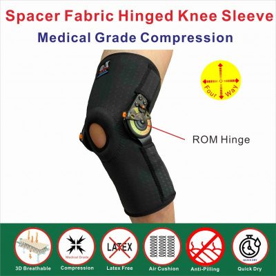 Spacer Fabric ROM hinged knee Brace