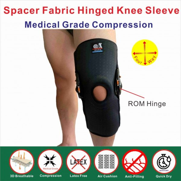 3D breathable ROM hinged knee sleeve