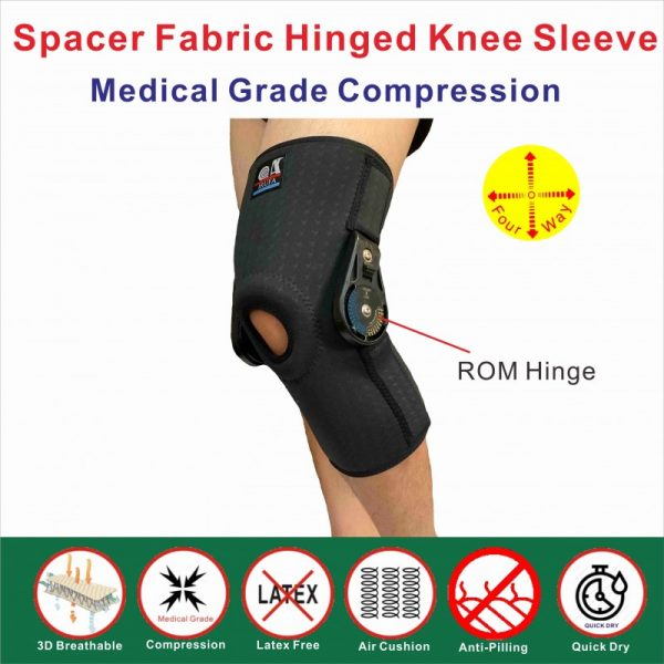 Spacer Fabric ROM hinged knee support