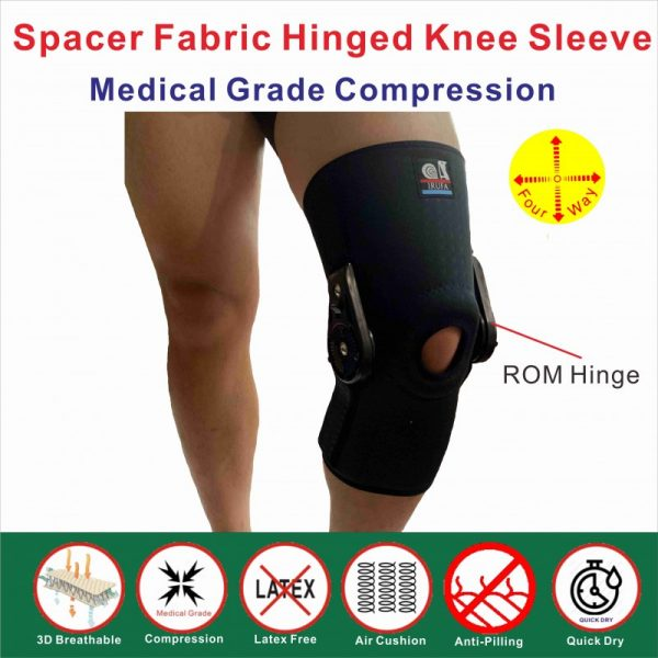 3D breathable ROM hinged knee support