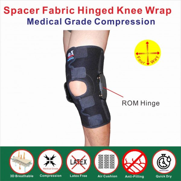 Spacer Fabric ROM hinged knee wrap