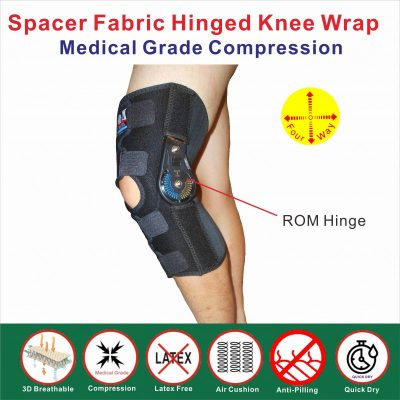 Breathable ROM Hinged knee wrap